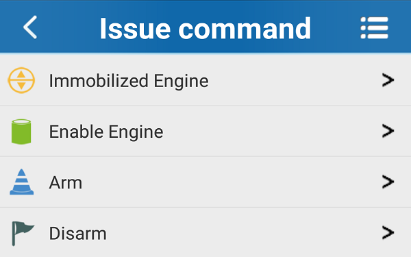 Immobilizer Feature - Alarm feature - disarm and arm remotely thru the APP
